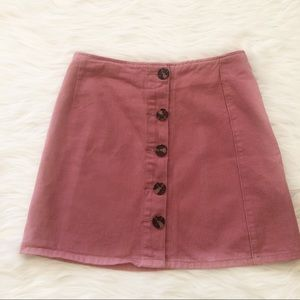 MRP Pink Cotton Mini Skirt